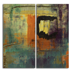 Ready2HangArt 'Bueno Exchange XXVI' 40x40-inch Canvas Diptych Art Print