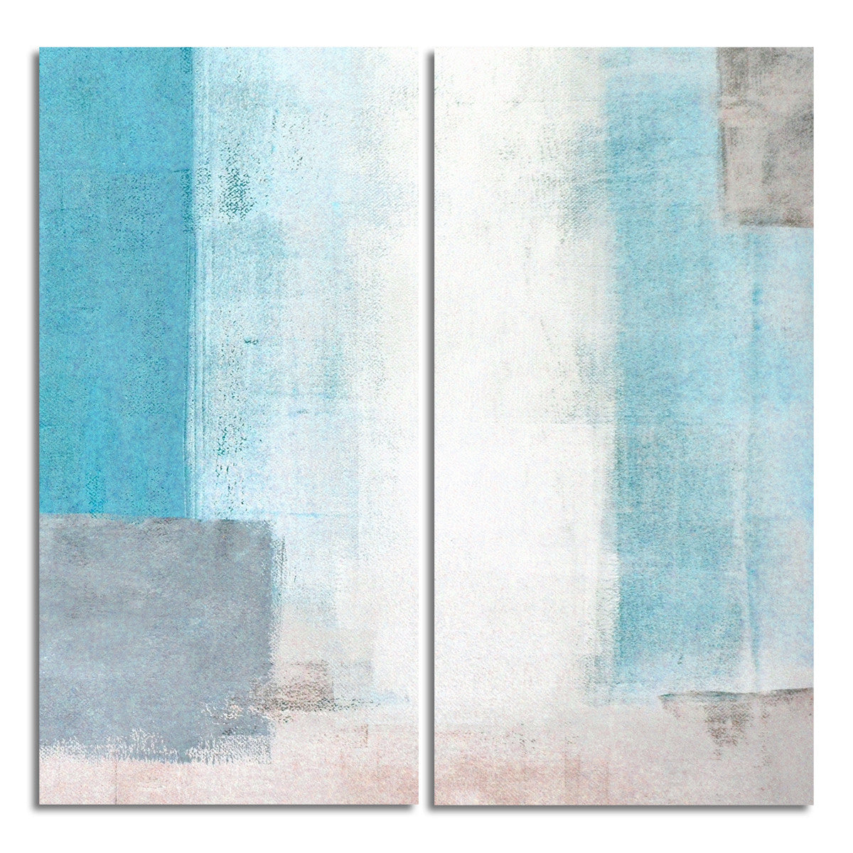 Ready2HangArt 'Bueno Exchange XXVIII' 40x40-inch Canvas Diptych Art Print