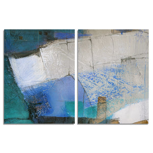 Ready2HangArt 'Bueno Exchange XXIX' 40x60-inch Canvas Diptych Art Print