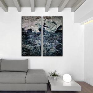 Oversized Abstract 2-PC Canvas Wall Art