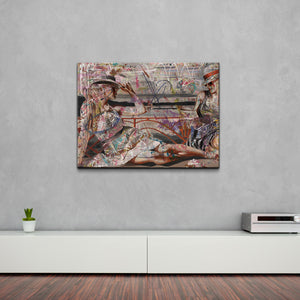 'Lounging Ladies' Canvas Wall Art
