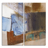 Ready2HangArt 'Bueno Exchange XXX' 40x40-inch Canvas Diptych Art Print
