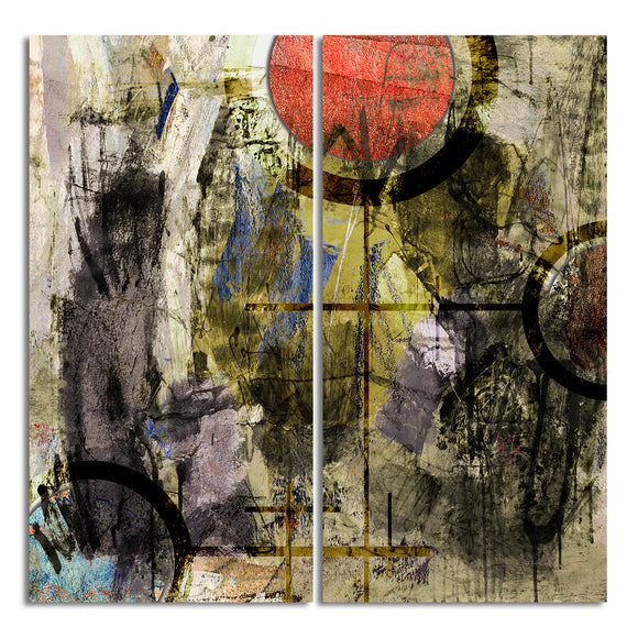 Ready2HangArt 'Bueno Exchange XXXII' 40x40-inch Canvas Diptych Art Print