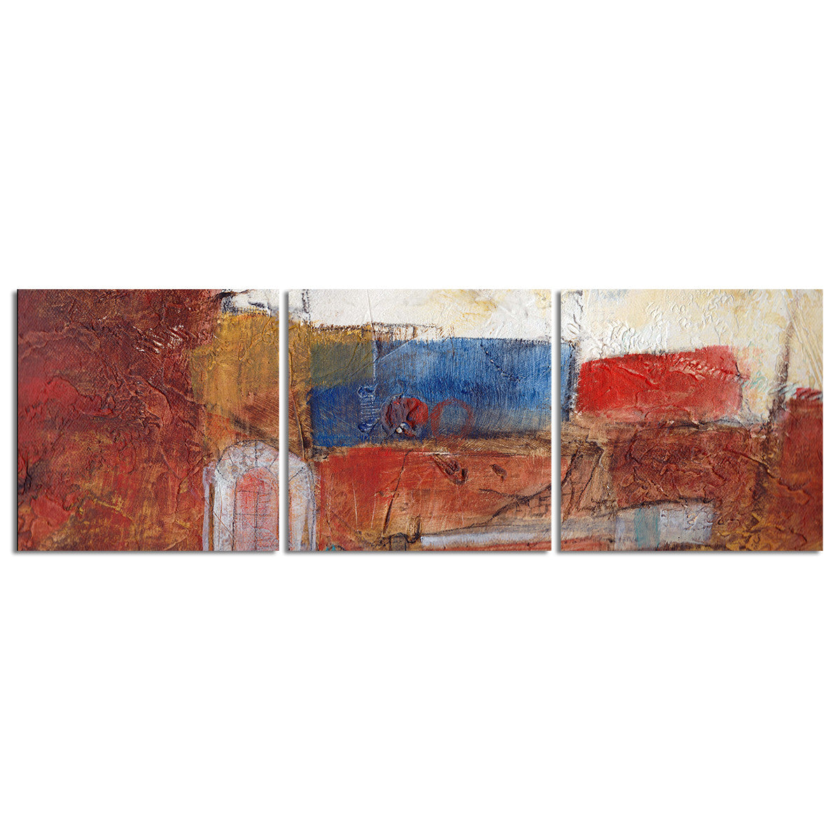 Ready2HangArt 'Bueno Exchange XXXIII' 20x60-inch Canvas Triptych Art Print
