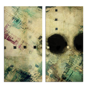 Ready2HangArt 'Bueno Exchange XXXV' 40x40-inch Canvas Diptych Art Print