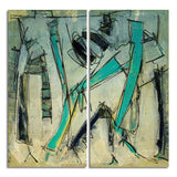 Ready2HangArt 'Bueno Exchange XXXVI' 40x40-inch Canvas Diptych Art Print