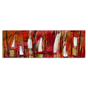 Ready2hangArt 'Bueno Exchange XXXVII' 16x48-inch Canvas Triptych Art Print
