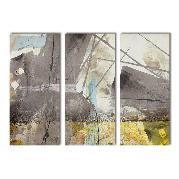 Ready2HangArt 'Bueno Exchange XLIII' 40x60-inch Canvas Triptych Art Print
