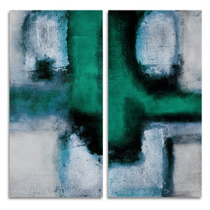 Ready2HangArt 'Bueno Exchange L' 40x40-inch Canvas Diptych Art Print