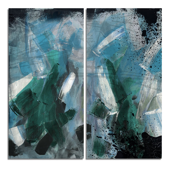 Ready2HangArt 'Bueno Exchange LII' 40x40-inch Canvas Diptych Art Print
