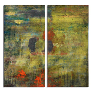 Ready2HangArt 'Bueno Exchange LIII' 24x24-inch Canvas Diptych Art Print