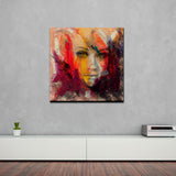 'Abstract Girl 4' Canvas Wall Art