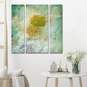 Ready2HangArt 'Bueno Exchange LXIV' 40x40 Canvas Triptych Art Print