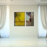 Ready2HangArt 'Bueno Exchange LXV' 40x60-inch Canvas Diptych Art Print