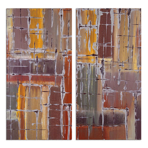 Ready2HangArt 'Bueno Exchange LXVII' 24x24-inch Canvas Diptych Art Print
