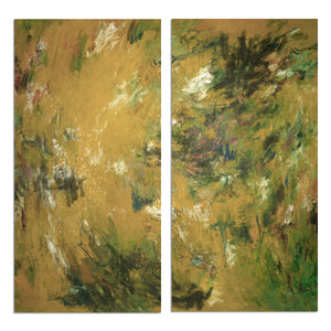 Ready2HangArt 'Bueno Exchange LXVII' 40x40-inch Canvas Diptych Art Print