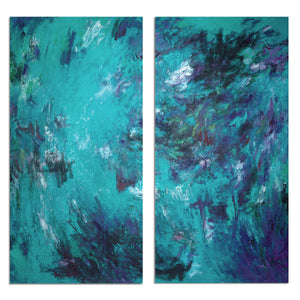 Ready2HangArt 'Bueno Exchange LXVIIB' 40x40-inch Canvas Diptych Art Print