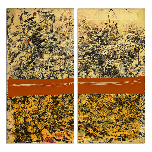 Ready2HangArt 'Bueno Exchange LXVIII-I' 40x40-inch Canvas Diptych Art Print