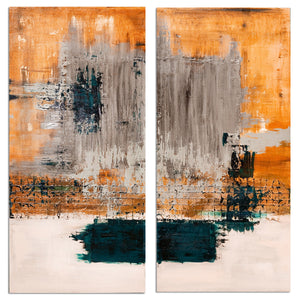 Ready2HangArt's 'Bueno Exchange LXVIV-I' 40x40-inch Canvas Diptych Art Print