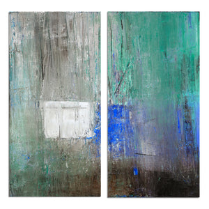 Ready2HangArt 'Bueno Exchange LXX' 40x40-inch Canvas Diptych Art Print