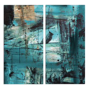 Ready2HangArt 'Bueno Exchange LXXI' 40x40-inch Canvas Diptych Art Print