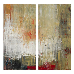 Ready2HangArt 'Bueno Exchange LXXII' 40x40-inch Canvas Diptych Art Print