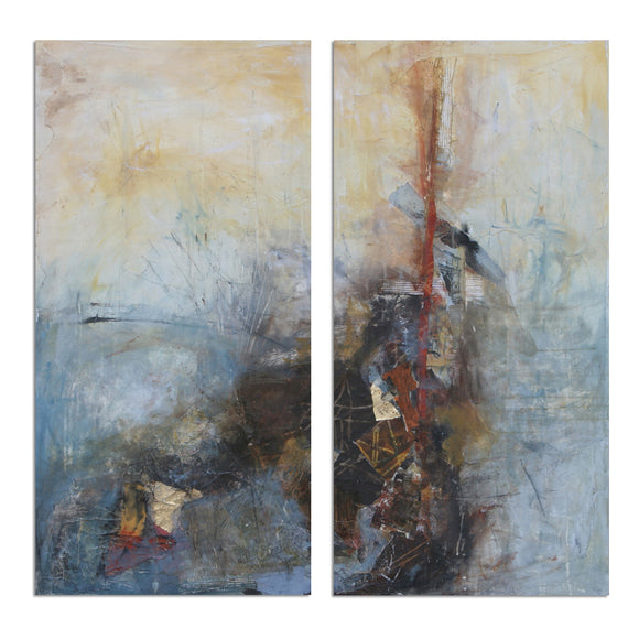 Ready2HangArt 'Bueno Exchange LXXIV' 40x40-inch Canvas Diptych Art Print
