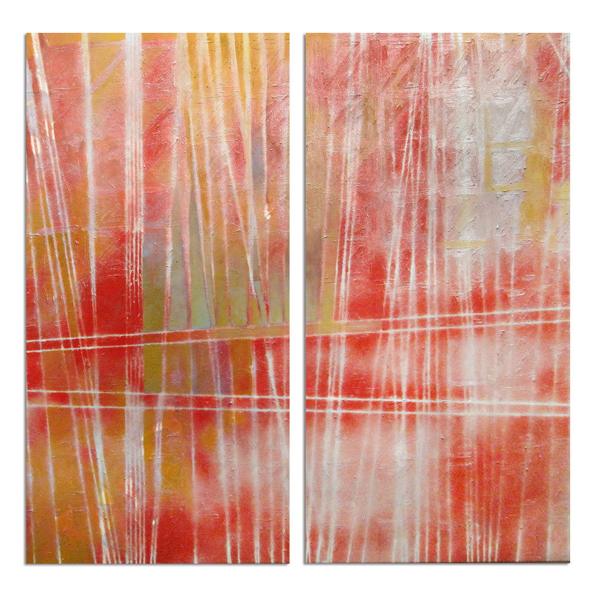 Ready2HangArt 'Bueno Exchange LXXVI' 24x24-inch Canvas Diptych Art Print