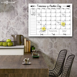 R2H Methods Navajo Dry Erase Monthly Calendar on ArtPlexi