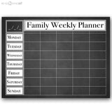 R2H Methods Dry Erase Family Weekly Calendar on ArtPlexi