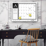 "R2H Methods Monogram Dry Erase Monthly Calendar on ArtPlexi (16"" x 20"")"