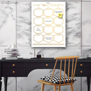 R2H Methods Glam Dry Erase Monthly Calendar on ArtPlexi