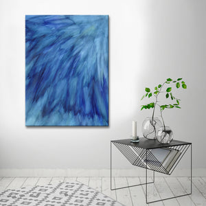 Ready2HangArt 'Blue Feathers' Canvas Wall Décor by Max+E