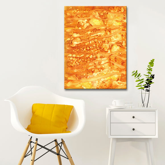 'Solar Flare' Wrapped Canvas Abstract Wall Art