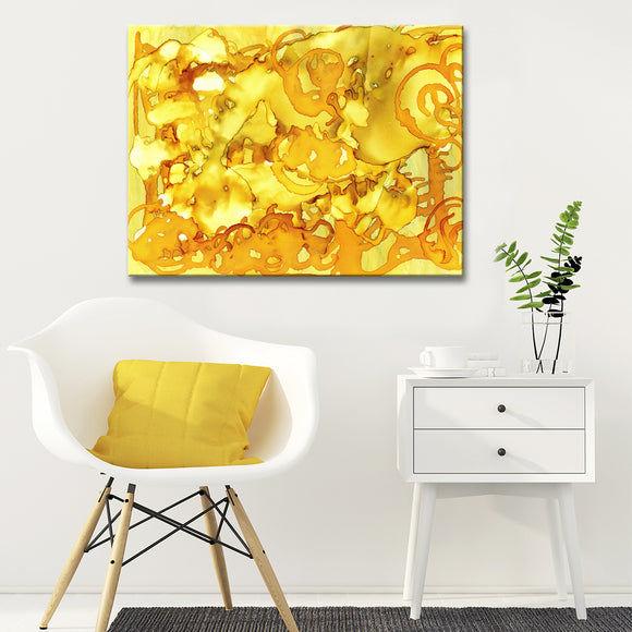 Ready2HangArt 'Gold Storm' Canvas Wall Décor by Max+E