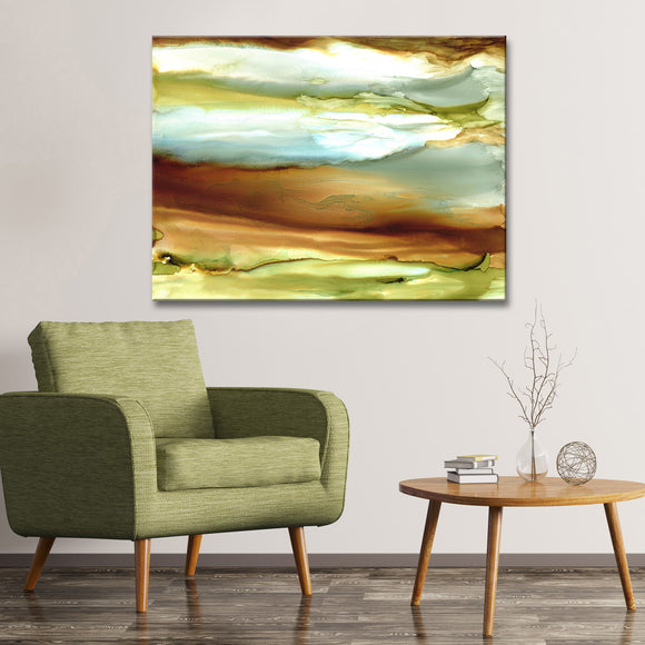 'Jupiter' Wrapped Canvas Abstract Wall Art