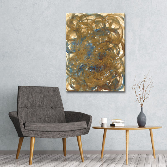 'Tumbleweeds' Wrapped Canvas Abstract Wall Art