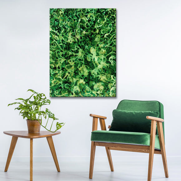 'Rainforest' Wrapped Canvas Abstract Wall Art