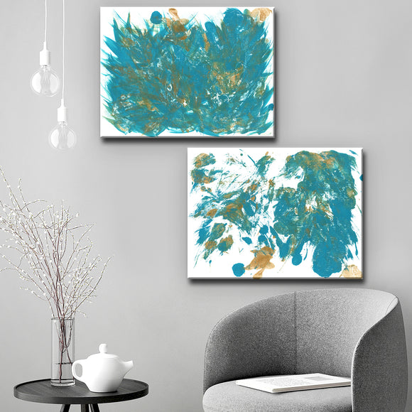 Ready2HangArt 'Feathers I/II' Wrapped Canvas Art Set by Coretta King Johnson
