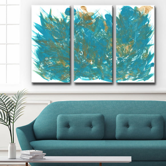 Ready2HangArt 'Feathers' Wrapped Canvas Art Set by Coretta King Johnson