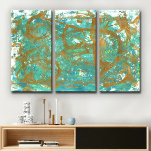 Ready2HangArt 'Golden Sea' Wrapped Canvas Art Set by Coretta King Johnson