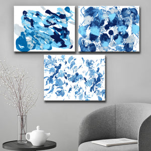 Ready2HangArt 'Rainy Moves I-III' Wrapped Canvas Art Set by Coretta King Johnson