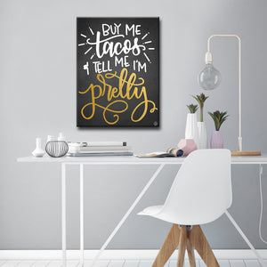 Ready2HangArt 'Buy Me Tacos' by Ink Letter Love Canvas Art