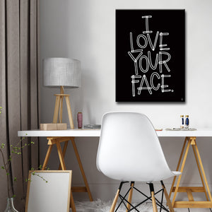 Ready2HangArt 'I Love Your Face' by Ink Letter Love Canvas Art