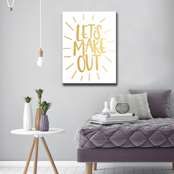 Ready2HangArt 'Lets Make Out' by Ink Letter Love Canvas Art