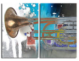 Ready2HangArt 'The Color of Jazz XI' Oversized 2-PC Canvas Wall Art