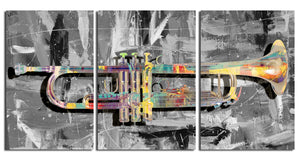 Ready2HangArt 'The Color of Jazz XV' Oversized 3-PC Canvas Wall Art