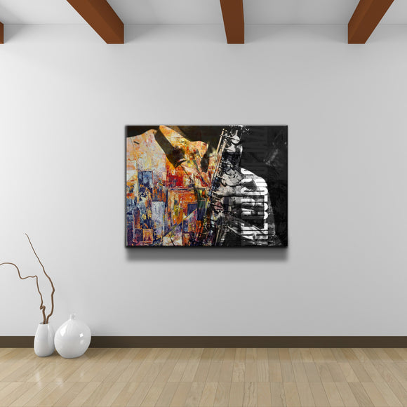 'The Color of Jazz II' Oversized Canvas Wall Art