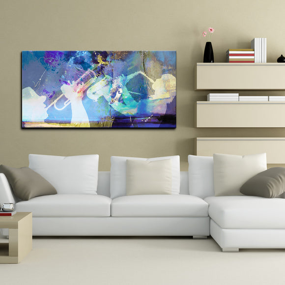 'Trumpet and Sax' Canvas Wall Art
