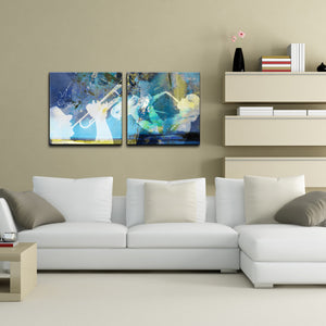 Trumpet and Sax' 2 Piece Wrapped Canvas Wall Art Set